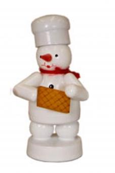 Bäcker Schneemann mit Waffel