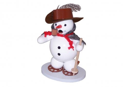 Räuchermann Schneemann mit Schneeschuhen