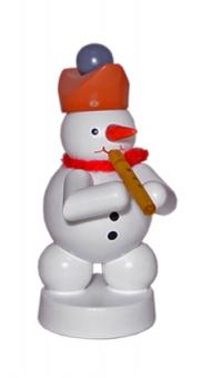 Schneemannmusikant mit Flöte