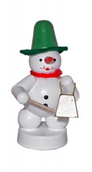 Schneemannmusikant mit Glocke