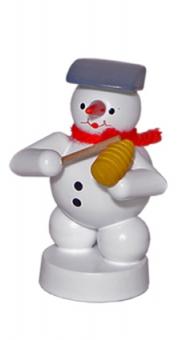 Schneemannmusikant mit Guiro